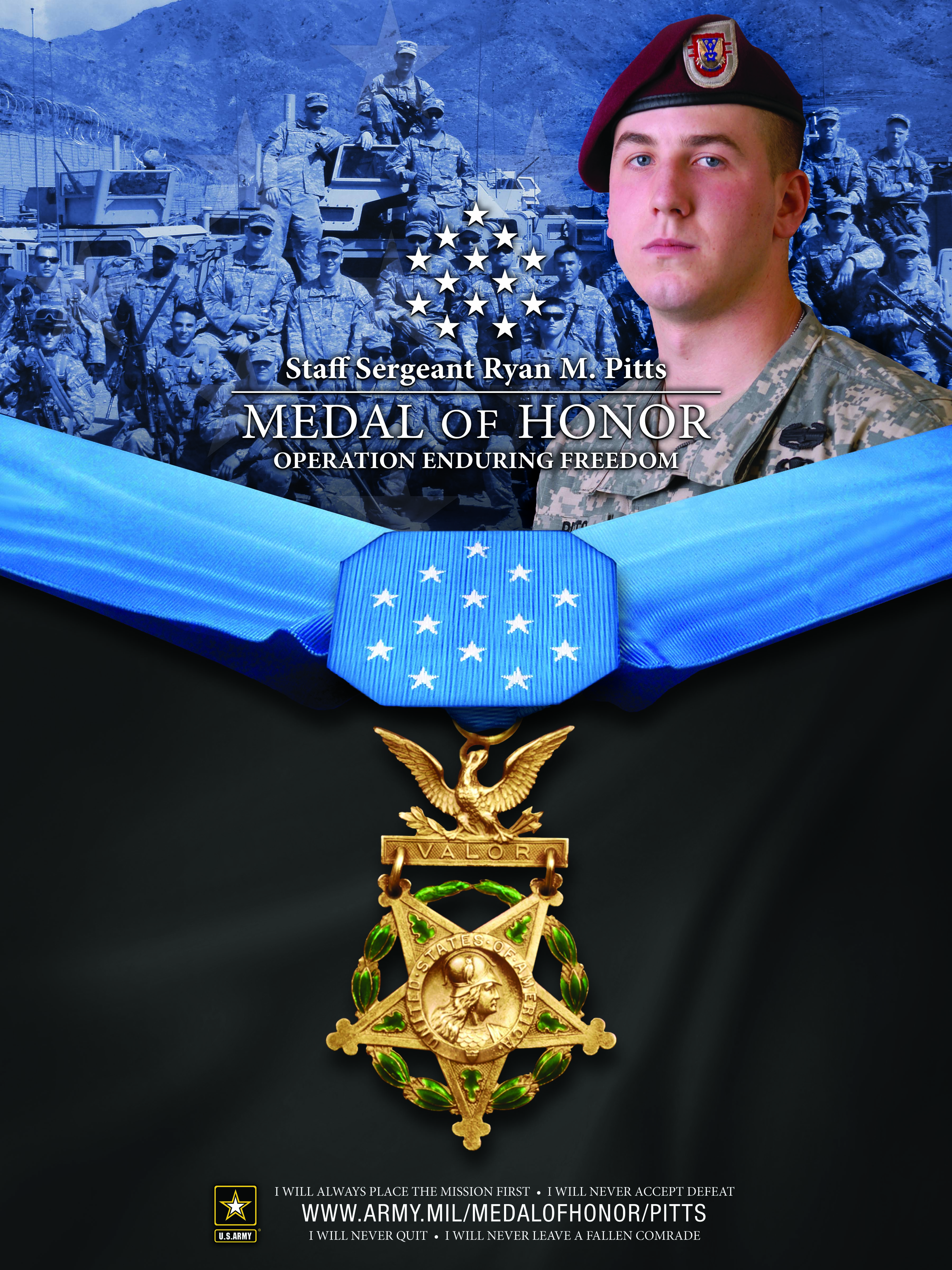 Profile Staff Sergeant Ryan Pitts Medal Of Honor