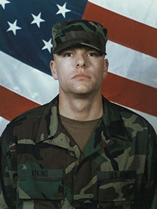 Then-Pvt. Travis Atkins graduates from basic infantry training at Fort Benning, Ga., 2001. (Photo courtesy of the Atkins family)