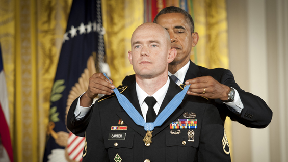 President Barack Obama awards Medal of Honor to Staff Sgt. Ty Carter
