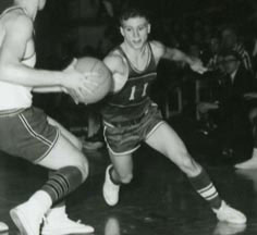 James McCloughan (right) during a high school basketball game. (Photo courtesy of James C. McCloughan).