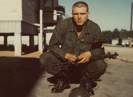 Then-Pfc. James McCloughan at Basic Combat Training, September 1968. (Photo courtesy of James C. McCloughan)