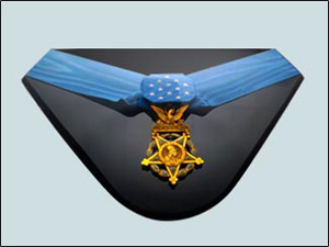 Detailed view of United States Army Medal of Honor