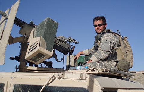 Staff Sgt. Ronald J. Shurer conducting a mission in Afghanistan, circa 2006. Photo courtesy of Ronald J. Shurer II.