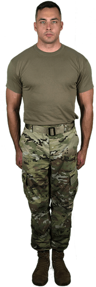 combat uniform front shot