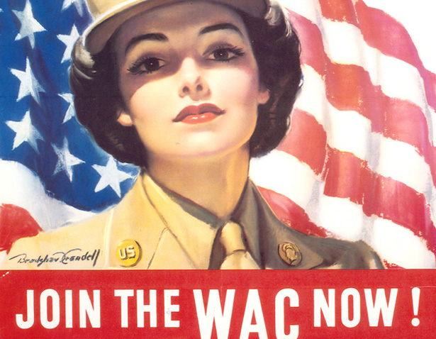 A World War II recruiting poster for the Women's Army Corp (WAC).