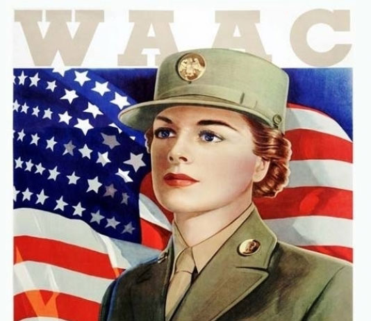"WAAC recruiting postcard and poster, entitled ""THIS IS MY WAR TOO!"" (Courtesy of U.S. Army Heritage and Education Center)"
