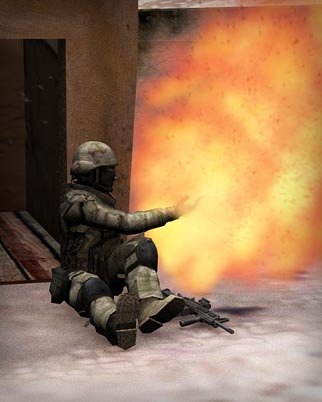 Sergeant First Class Petry removes gernade as it explodes leaving his hand and amputates his hand