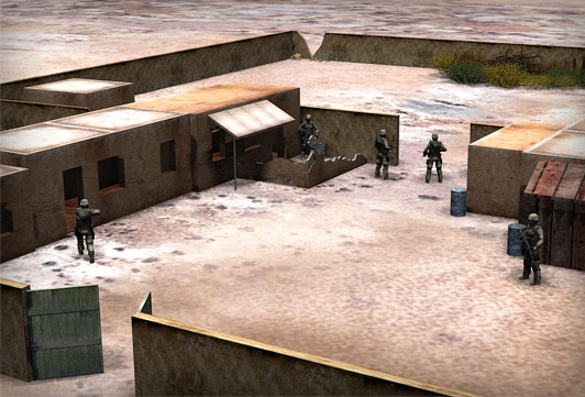 Rangers securing inner compound