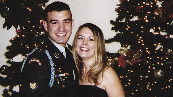 Sergeant First Class Petry and his wife Ashley at a holiday event