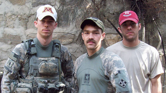 First Lieutenant Andrew Bunderman, Staff Sergeant Romesha and Sergeant Bradley Larson