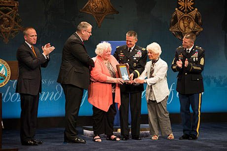 World War I heroes, Sgt. Henry Johnson and Sgt. William Shemin, are inducted into the Hall of Heroes at the Pentagon in Washington, D.C., June 3, 2015. U.S. Army photo by Staff Sgt. Bernardo Fuller