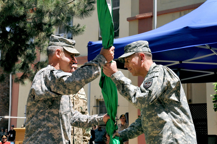 General David H. Petraeus assumes command of NATO's International Security Assistance Force (ISAF)
