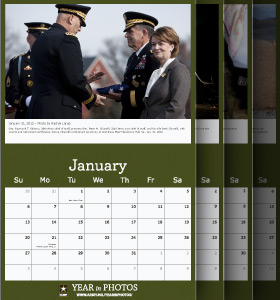 2012 United States Arny Year in Photos Monthly Calendar