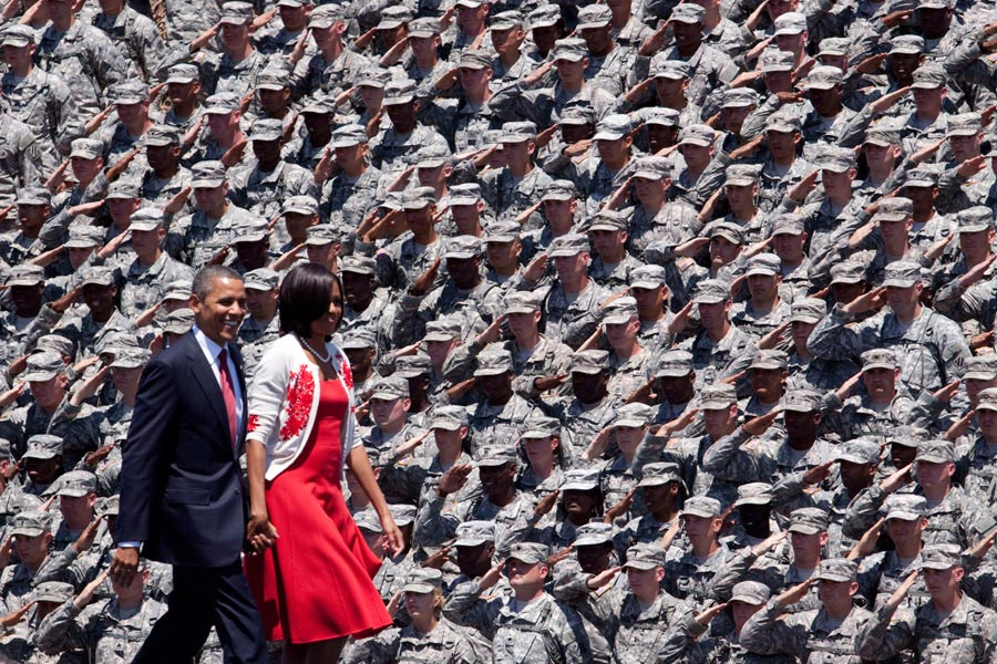 President Barack Obama and First Lady Michelle Obama visit Fort Stewart, Ga.