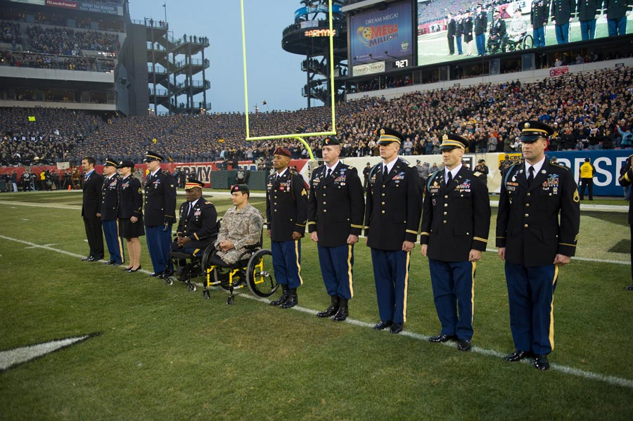 United States Army Combat Veterans are honored during 113th Army-Navy football game