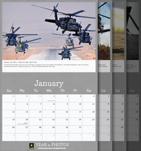 2013 United States Army Year in Photos Monthly Calendar
